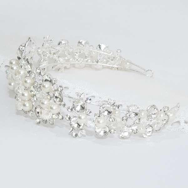 Pearl crystal headband