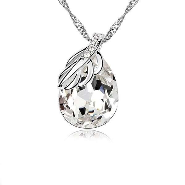 Melba Necklace, bridal necklace featuring Swarovski elements