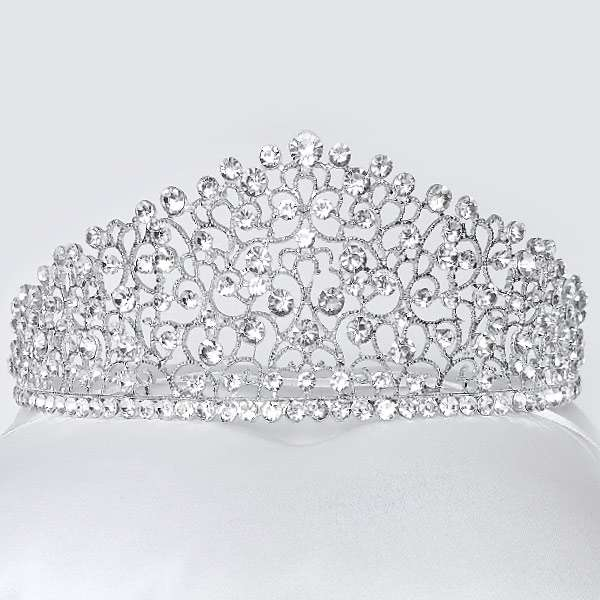 Crystal bridal crown