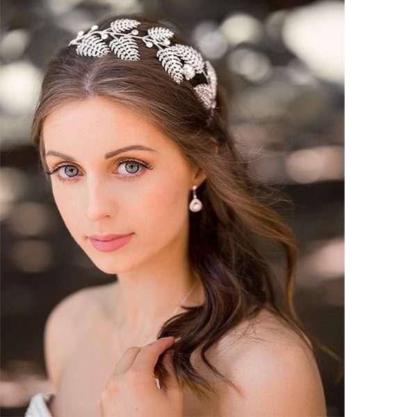 Bridal headband, crystal wedding band, hairpiece, wedding accessory