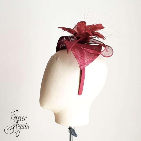 Burgundy hat