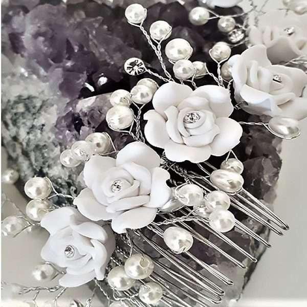 White porcelain hairvine