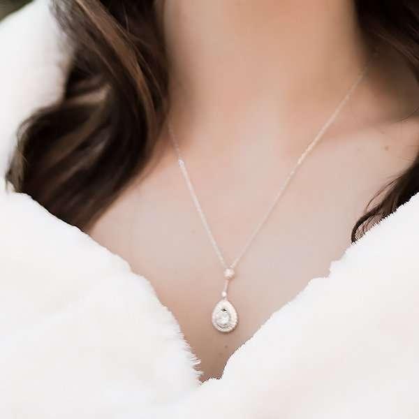 Bridal necklace, bridesmaid necklace