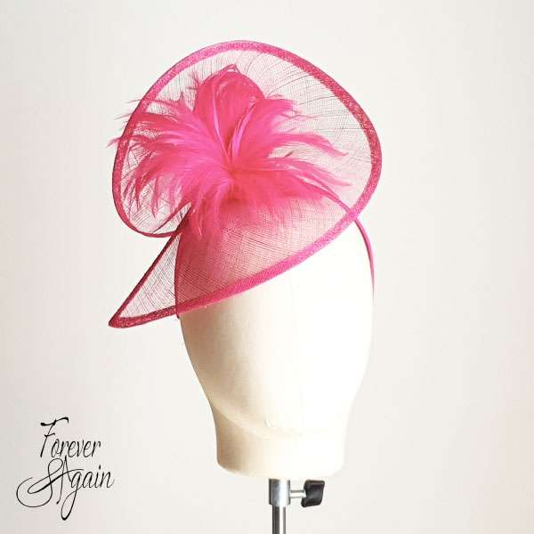 Hot pink fascinator
