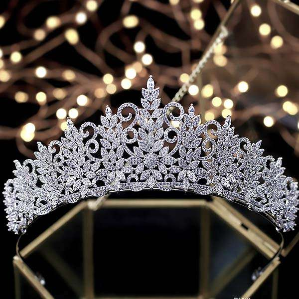 Micro paved Bridal Crown