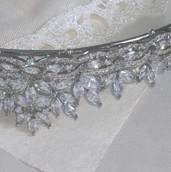 Cubic zirconia wedding jewellery