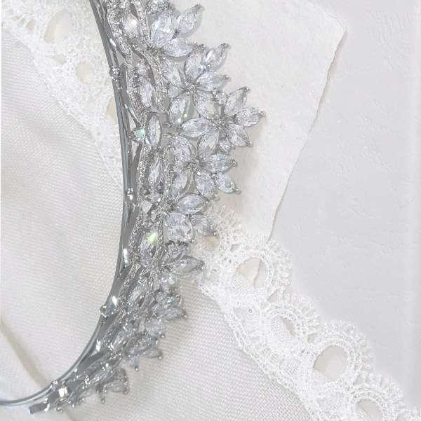 Cubic Zirconia wedding crown