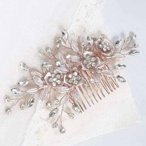 Rose floral comb