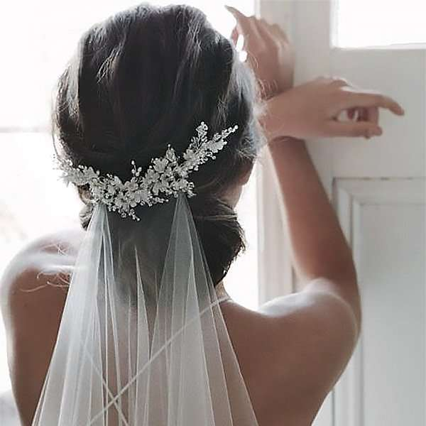 Metal embellished hair vine