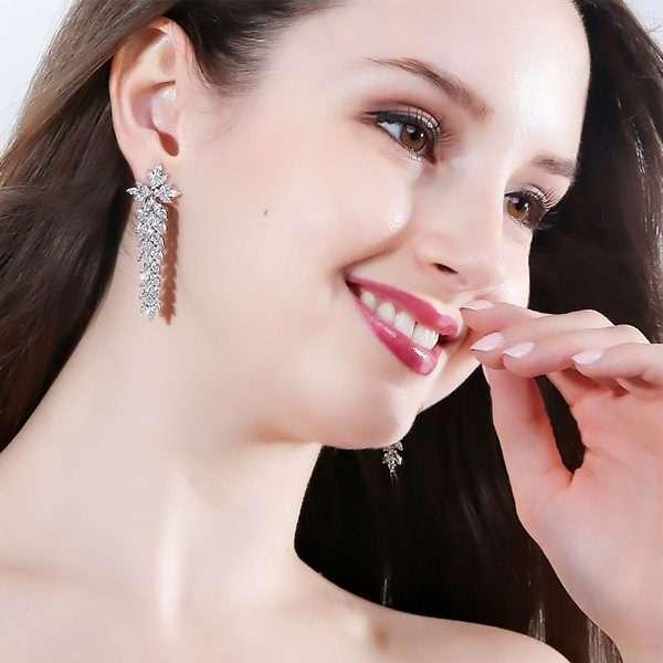 Clip on earrings, bridal jewellery