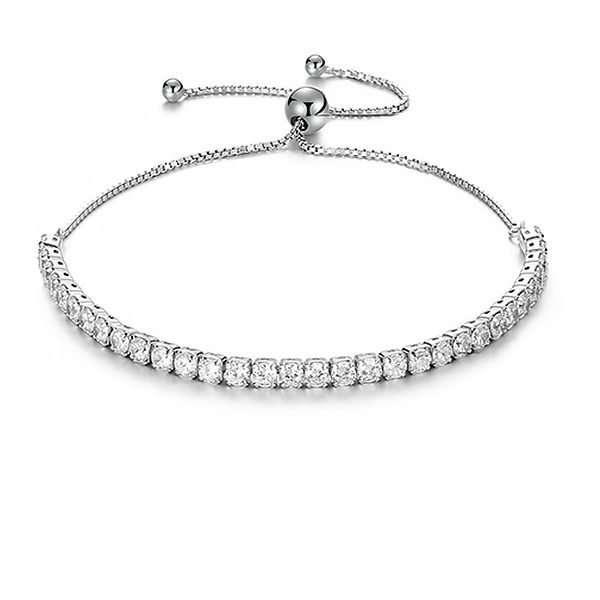 bracelet, cubic zirconia bracelet, sterling silver bracelet