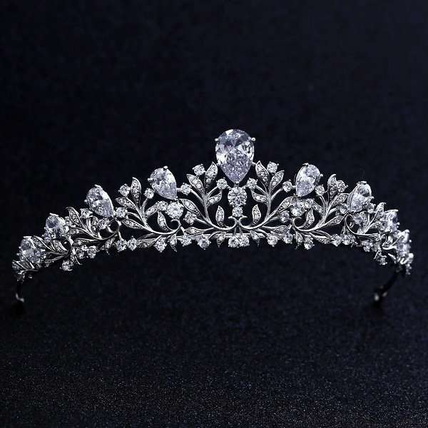 Bridal crown, CZ crystal AAA quality bridal crown tiara