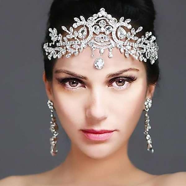 Crystal drop headband