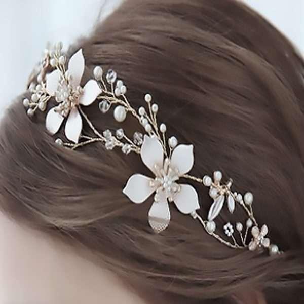 Rose Frangipani Hairvine