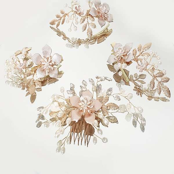 Rose Frangipani Hairpieces