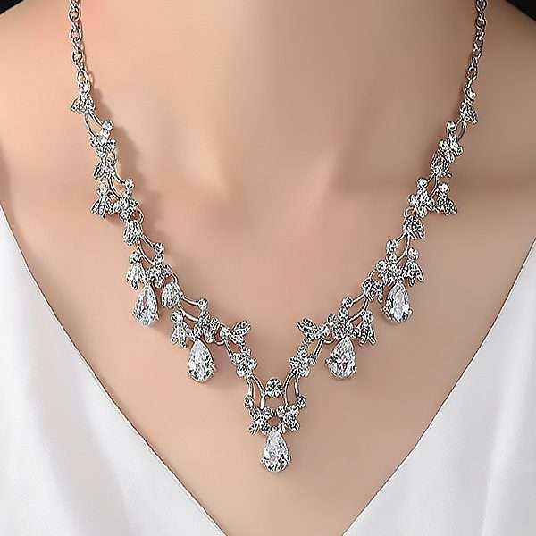 Bridal jewellery set, bridesmaid jewellery set