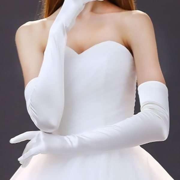 Debutante Gloves in White