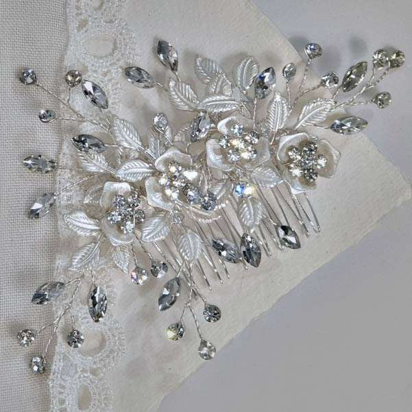Silver hair jewels