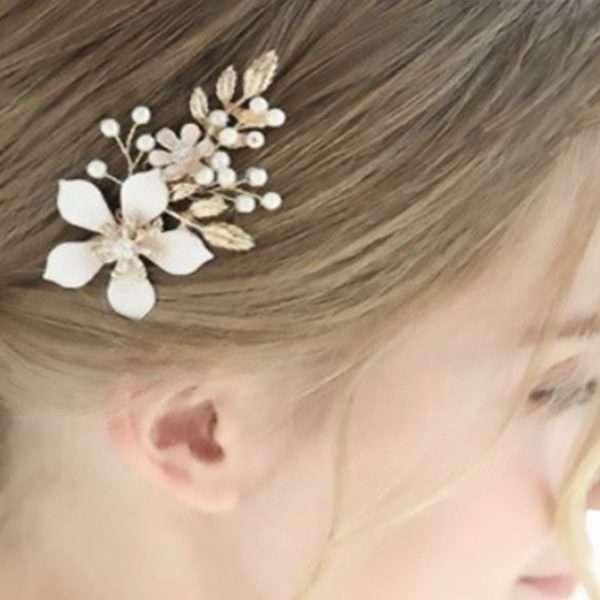 Rose Frangipani Hair pin