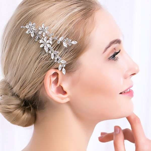 Bridal haircomb, crystal haircomb