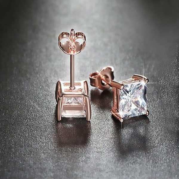 Wedding party earrings, bridal rose earrings