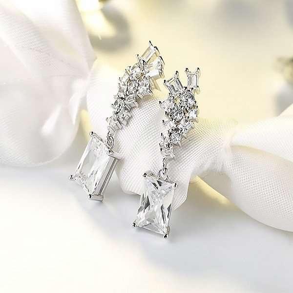 Event earrings, crystal bridesmaid earrings