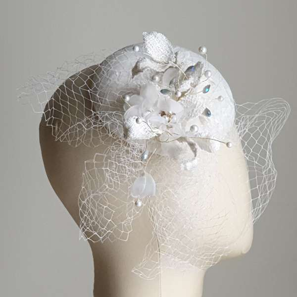 Chantilly lace fascinator