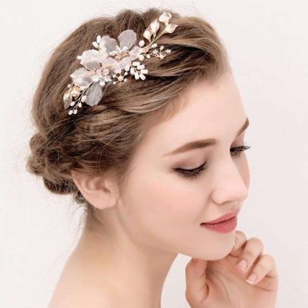 Silk floral hairclip