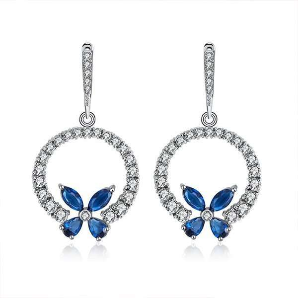 Bridesmaid earrings, blue earrings