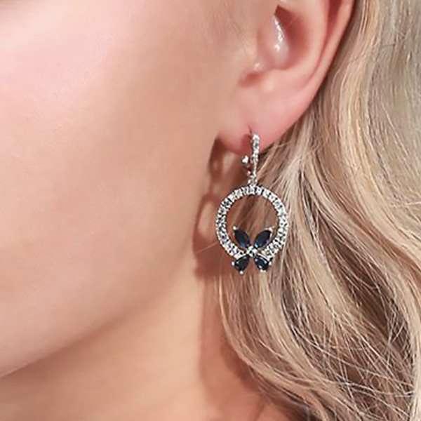 Butterfly blue earrings