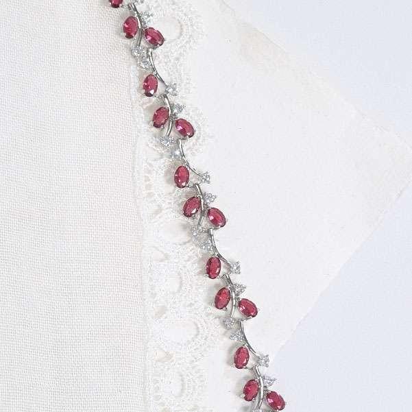 Rose coloured bracelet