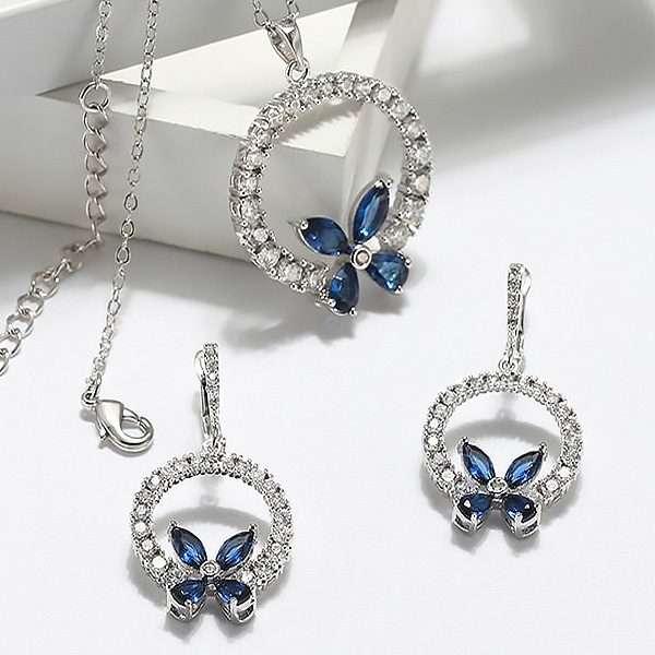Butterfly jewellery set