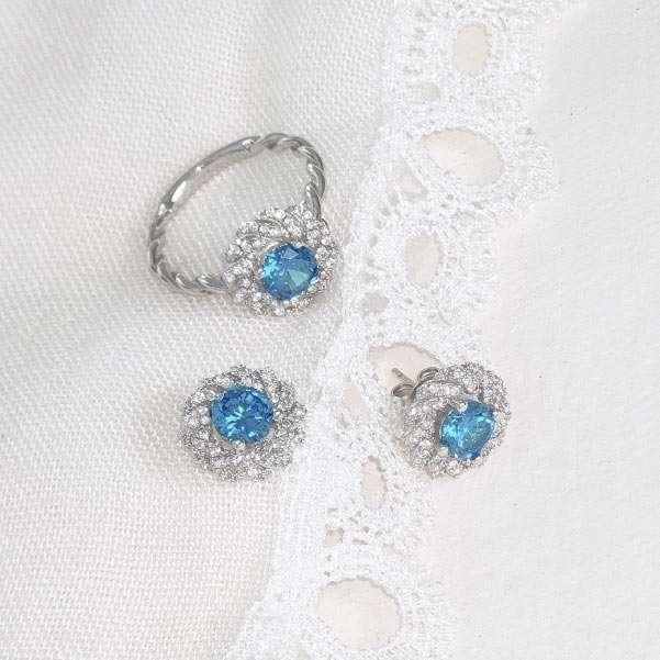 Blue ring set