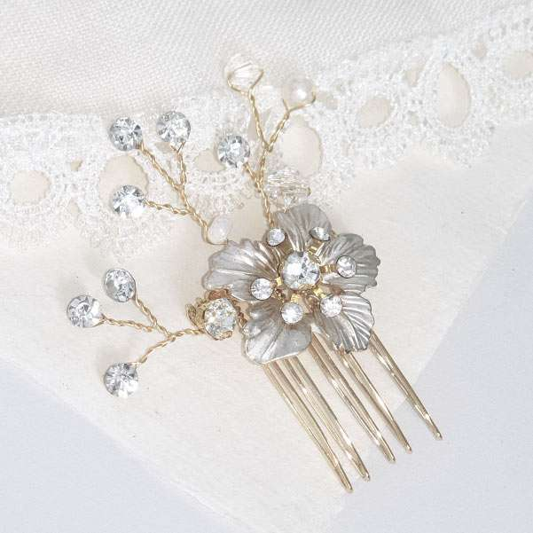 Spring blossom hair comb