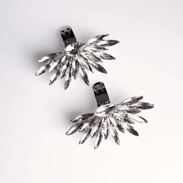 crystal shoe clips