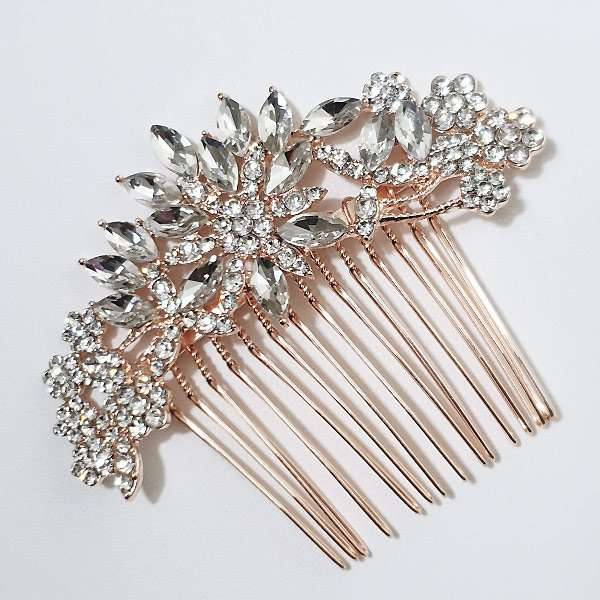 Rose gold haircombs
