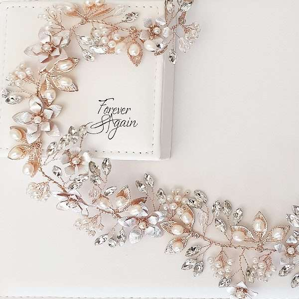 Rose hairvine for the bride or bridesmaid