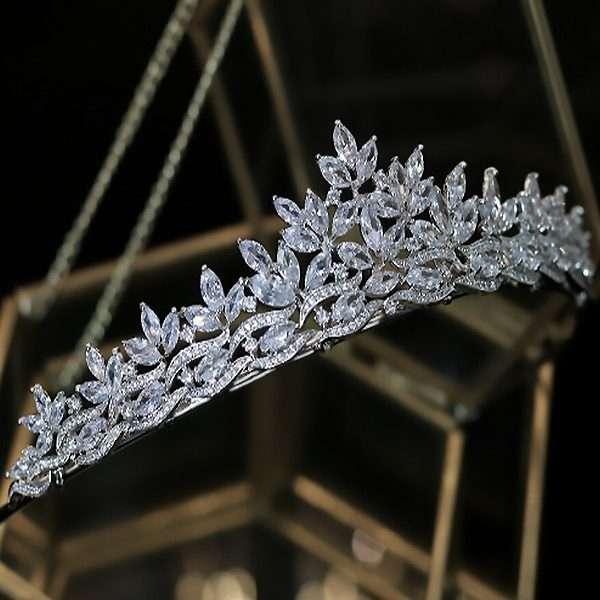 Cubic Zirconia bridal crown