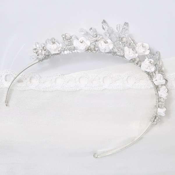 Porcelain flower tiara