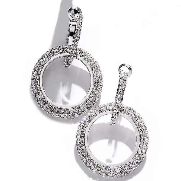 Crystal huggie earrings