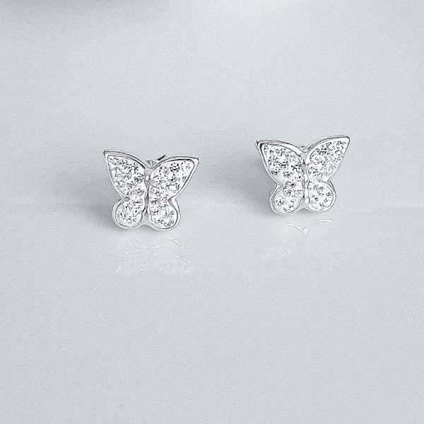 utterfly silver earrings