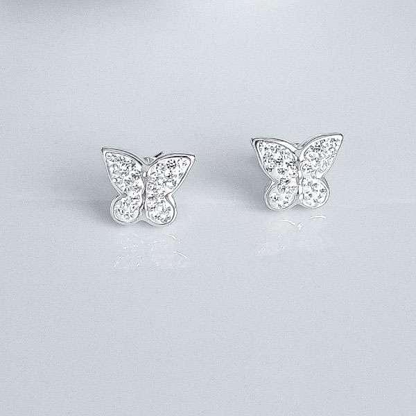 utterfly silver earrings