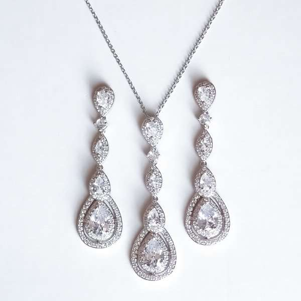Long drop bridal jewellery