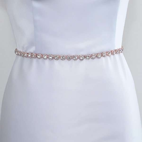 Rose Swarovski crystal belt