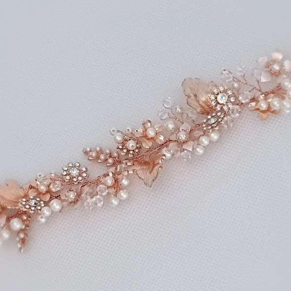 Wedding belt in rose
