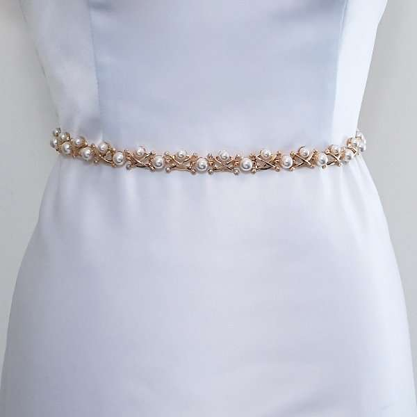 Mason wedding dress belt