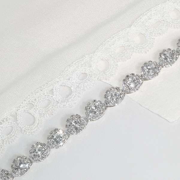 Silver dress belt