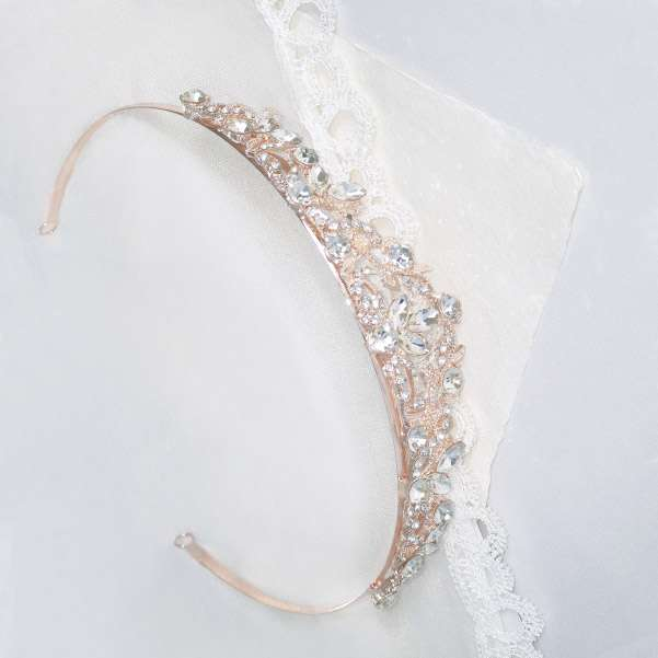 Rose wedding tiara