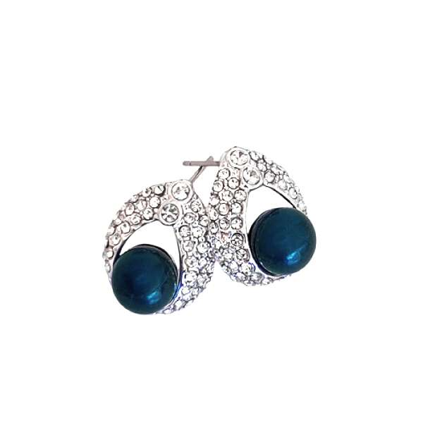 Baroque Blue Earrings