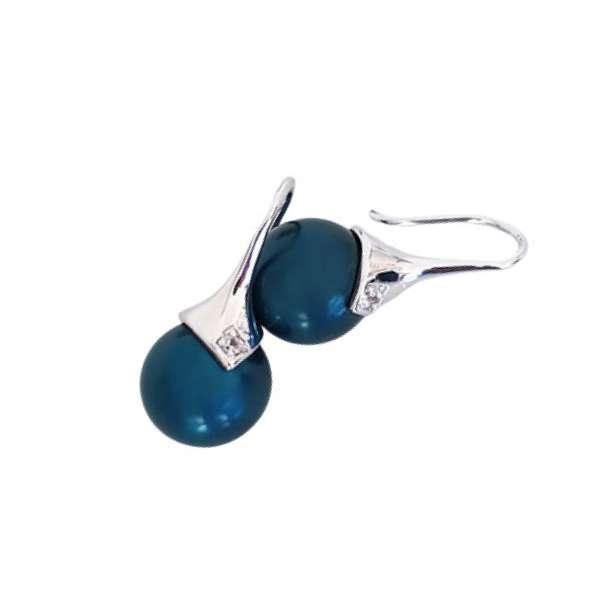 Electric Blue drop earrings